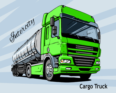 intercity: Green Intercity Cargo Truck