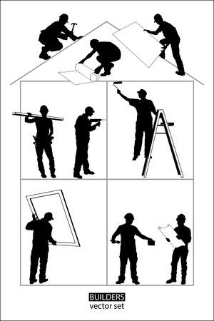 Shapes of Men builders at work
