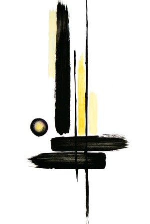 cypress tree: Abstract illustration of a cypress tree