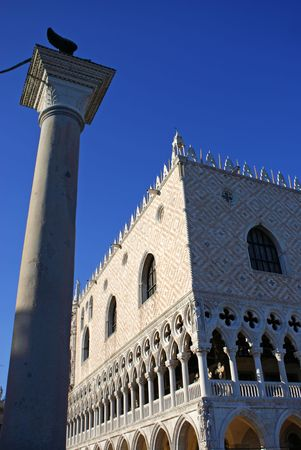 palazzo: Palazzo Ducale and statue.