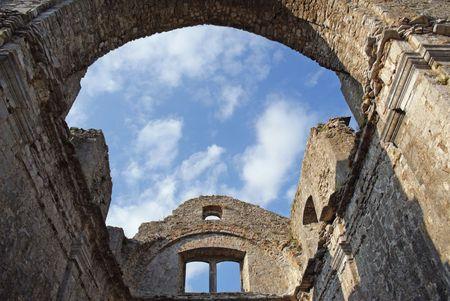 Old stone church ruin in Croatia. photo