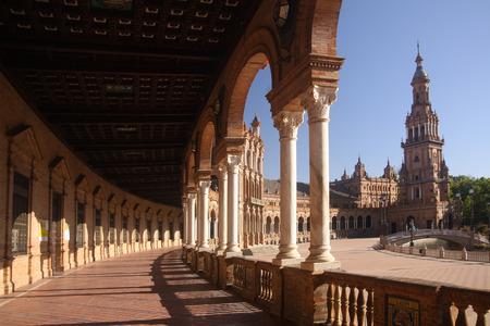 sevilla: Momumental Plaza de Espana in Sevilla, Spain. Editorial