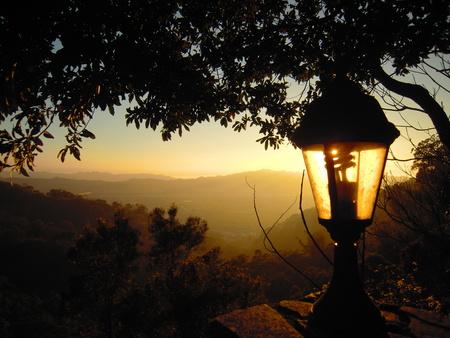 streetlights: The sunset