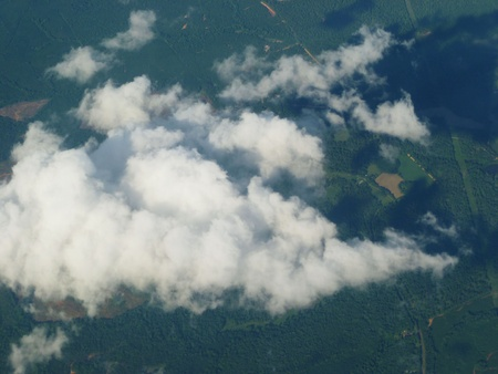 Looking at a cloud from above.