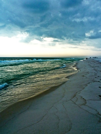 A stormy day at the beach. Stock Photo