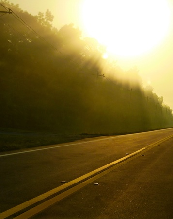 A road at morning