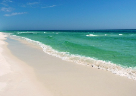 A wide angle view of the gulf. Stock Photo