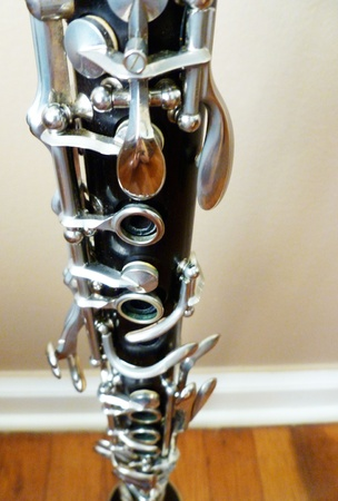 An interesting view of the two clarinet joints. Stock Photo - 10294916