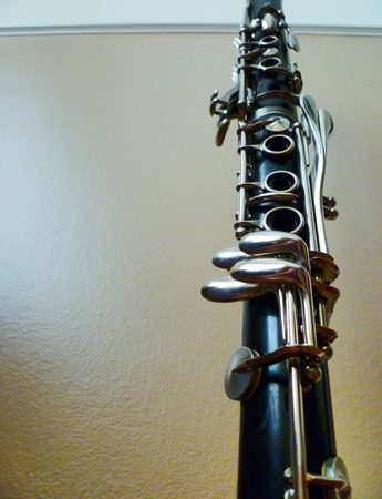 Looking up at the two clarinet joints. Stok Fotoğraf