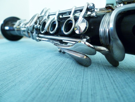 An interesting view of the clarinet length. Stock Photo - 10294889