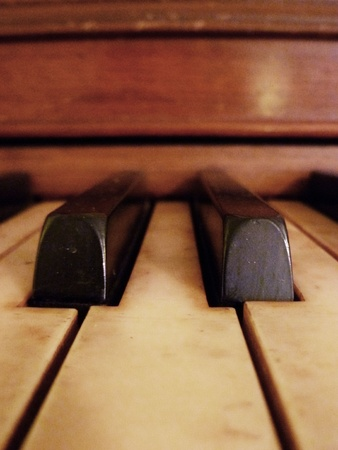 A close up view of piano keys. Stock Photo - 10294901