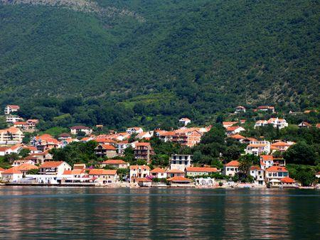 View of Montenegro in the boka-katorski gulf photo