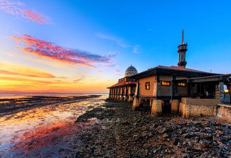 Kuala Perlis sunset near their mosque.