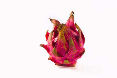 Dragon fruit isolated with white background.