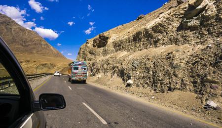 Beautiful scenery mountains at Leh Ladakh INDIA.
