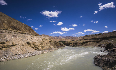 Scenery In leh Ladakh India, road and mountain during sunny day.