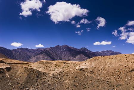 Beautiful view along the road in Leh, Ladakh, Jammu and Kashmir, India. Stock Photo