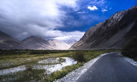 Natural landscape in Nubra valley, Leh Ladakh, Jammu and Kashmir, India Stock Photo