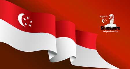 vector illustration August 9th Singapores independence day. Singapore National Day. celebration republic, graphic for design element Illustration