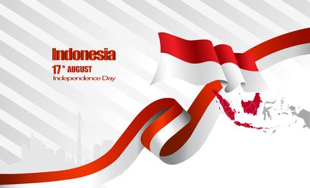 Vector red color Flat design, Illustration of flag.