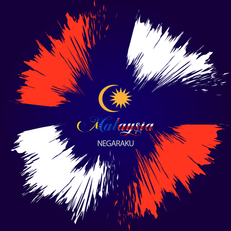 Vector Illustration independence day with malaysia flag.