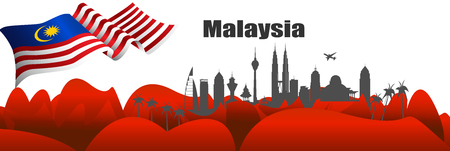 Vector Illustration independence day with malaysia flag. Stock fotó - 105509773
