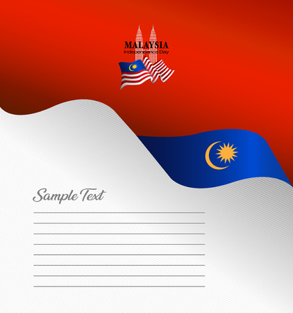 Malaysia top brochure cover vector, independence day. Malaysia National Day.  graphic for design element Illustration
