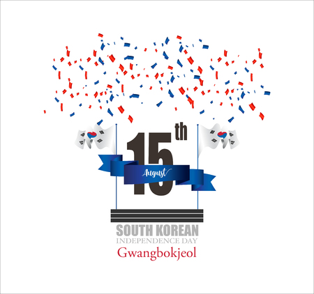 Vector illustrator design for South koren independence day, template and banner,