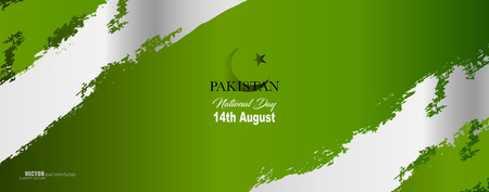 Pakistan Independence day vector illustration, design template, banner or art element.