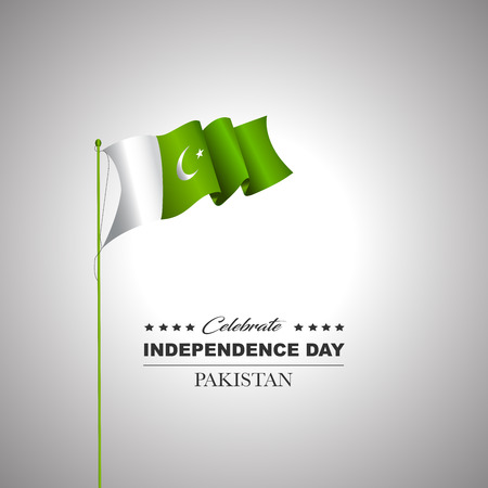 Pakistan Independence day vector illustration, design template, banner or art element. Illusztráció