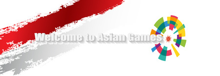 Asian Games 2018. Banner Flyer Brochure Fat design style vector. sport celebration game party oympic every four years