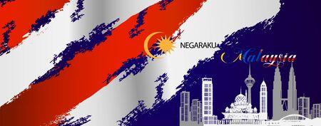 bienvenue à l'élément de bannière de Malaisie