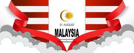 Vector illustration Malaysia Flag, Banner, templet and broucher concept.