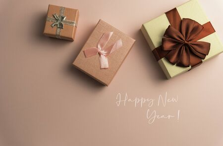2020 Happy New Year Background for your Seasonal Flyers and Greetings Card or Christmas themed invitations Stock Photo