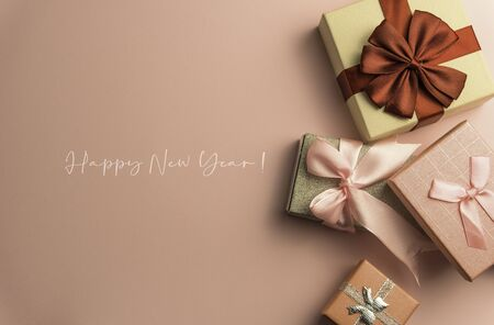 2020 Happy New Year Background for your Seasonal Flyers and Greetings Card or Christmas themed invitations Stok Fotoğraf