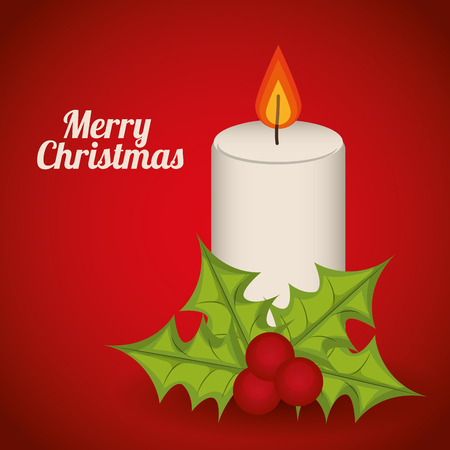 christmas candle: Merry Christmas concept with decoration icons design, vector illustration 10 eps graphic.