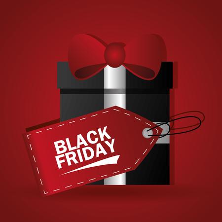 Black Friday concept met verkoop iconen ontwerp, vector illustratie 10 eps grafische.