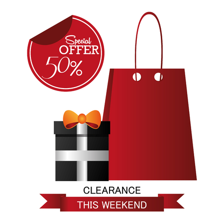 christmas shopping bag: Black Friday concept with sale icons design, vector illustration 10 eps graphic.