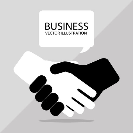 negotiation: Business concept with icons design, vector illustration 10 eps graphic. Illustration