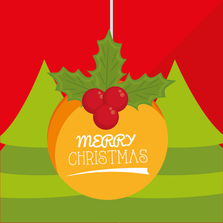 christmas concept: Merry Christmas concept with  decoration icons design, vector illustration 10 eps graphic.