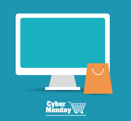 retail display: Cyber Monday with sale icons design, vector illustration 10 eps graphic.
