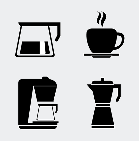espresso cup: Hot Beverage concept, Coffee time signs and symbols, vector design