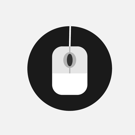 lcd panel: Mouse Icon on flat style, editable vector design