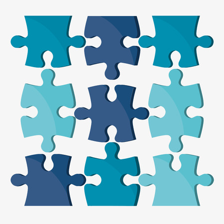 jigsaw puzzle pieces: Puzzle concept with jigsaw pieces icons design, vector illustration 10 eps graphic.