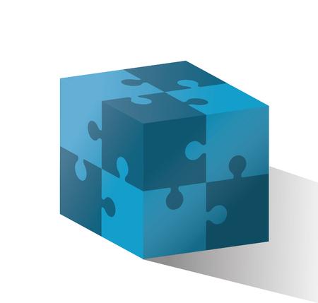 piezas de puzzle: Concepto del rompecabezas con piezas de puzzle iconos de dise�o, ilustraci�n vectorial eps 10 gr�fico. Vectores