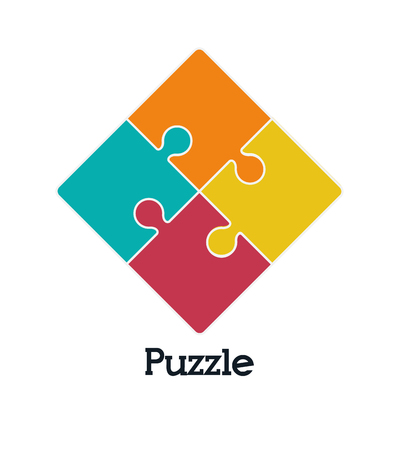 business symbols: Puzzle concept with jigsaw pieces icons design, vector illustration 10 eps graphic.