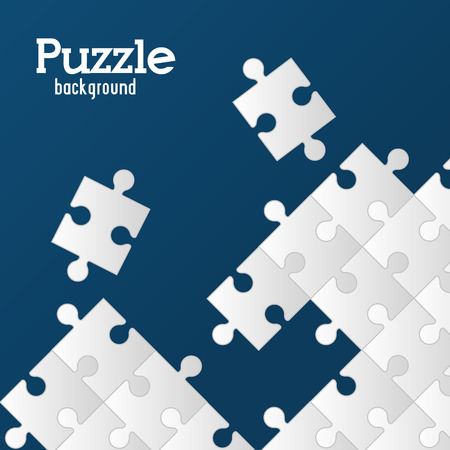 Puzzle concept with jigsaw pieces icons design, vector illustration 10 eps graphic.