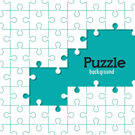 Puzzel concept met puzzelstukjes iconen ontwerp, vector illustratie 10 eps grafische.