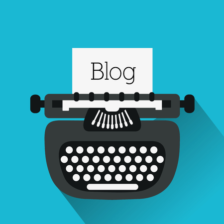 typewrite: Blog concept with technology icons design, vector illustration 10 eps graphic.