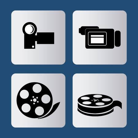 videocamera: Video concept with  movie icons design, vector illustration 10 eps graphic., Vector design Illustration